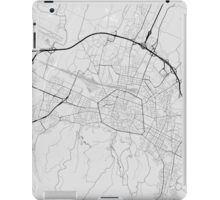 Bologna, Italy Map. (Black on white) iPad Case/Skin