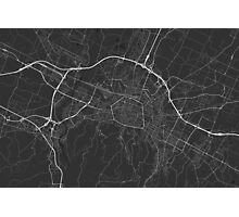 Bologna, Italy Map. (White on black) Photographic Print
