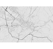 Florence, Italy Map. (Black on white) Photographic Print