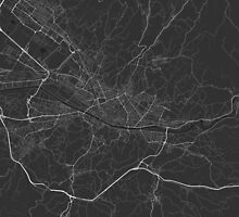 Florence, Italy Map. (White on black) by Graphical-Maps