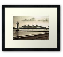 Disney Magic visits liverpool Framed Print