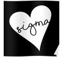 Heart Sigma Poster