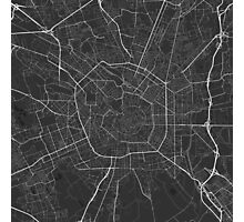 Milano, Italy Map. (White on black) Photographic Print