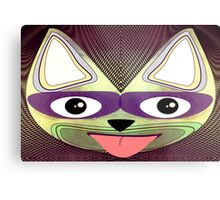 Cat. Mod Cat with Cats-eye Glasses Metal Print