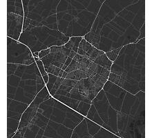 Modena, Italy Map. (White on black) Photographic Print