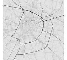 Padua, Italy Map. (Black on white) Photographic Print