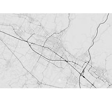 Prato, Italy Map. (Black on white) Photographic Print