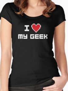 I Love My Geek Women's Fitted Scoop T-Shirt