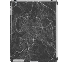 Rome, Italy Map. (White on black) iPad Case/Skin