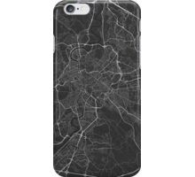 Rome, Italy Map. (White on black) iPhone Case/Skin