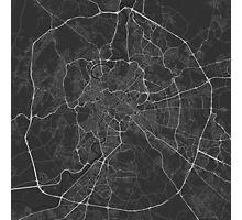 Rome, Italy Map. (White on black) Photographic Print
