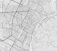 Turin, Italy Map. (Black on white) Sticker
