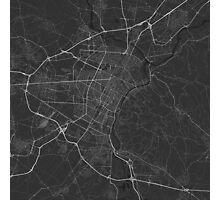 Turin, Italy Map. (White on black) Photographic Print
