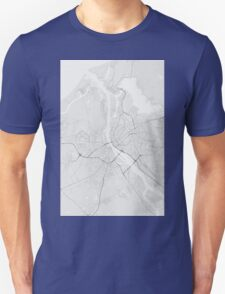 Riga, Latvia Map. (Black on white) T-Shirt