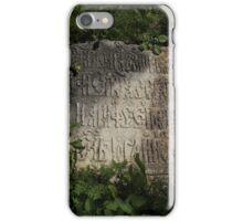ancient gravestone iPhone Case/Skin