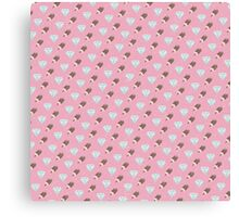 Retro Ice Cream & Drugs Pattern Only (Pink) Canvas Print