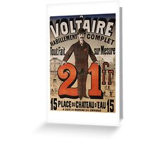 Vintage poster - A Voltaire Greeting Card