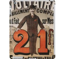 Vintage poster - A Voltaire iPad Case/Skin