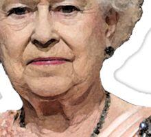 Queen Elizabeth is NOT Amused Sticker