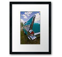 1957 Chevy Belair Tail Fin Framed Print