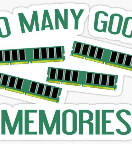 So Many Good Memories Sticker