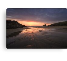 Trevone Bay Beach Canvas Print
