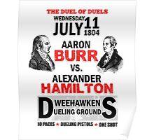 Hamilton Vs Burr Poster