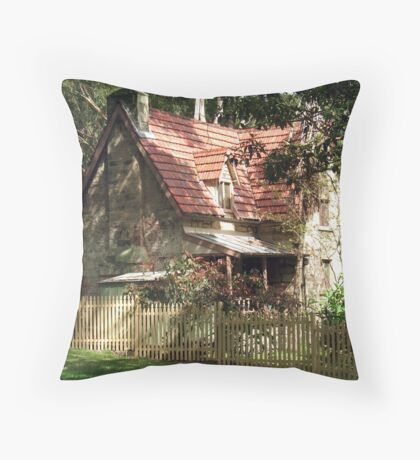 The Olde Gardener's Cottage Throw Pillow