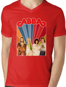 ABBA restored EPIC 70's mega poster design. Made with love by ISNPIRINGPEOPLE! Mens V-Neck T-Shirt