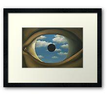The False Mirror - Magritte Framed Print