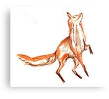 Leaping fox Metal Print