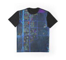 Dark map of the Strip in Las Vegas Graphic T-Shirt