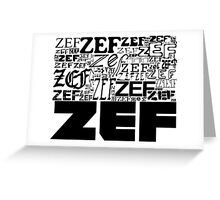 ZEFZEFZEF Greeting Card