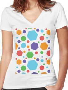 Six Sides for Fun Women's Fitted V-Neck T-Shirt