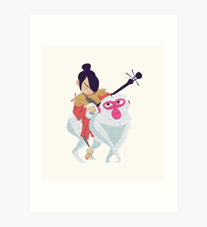 Kubo and Monkey Art Print