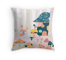 Mushroom Euphoria Throw Pillow
