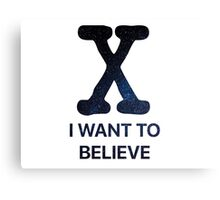 I Want to Believe - Stars Canvas Print