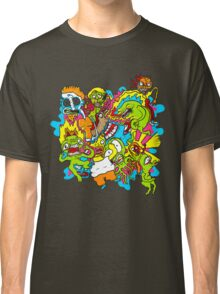 Monster Mayhem Graffiti Splash Mountain Classic T-Shirt
