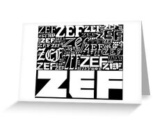 ZEFZEFZEF BLACK Greeting Card