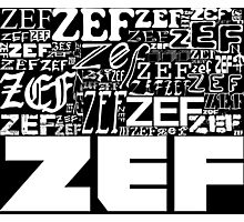 ZEFZEFZEF BLACK Photographic Print