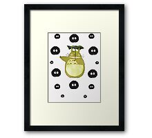 Totoro and Soot Sprites Framed Print