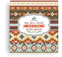 Ethnic print vector pattern background Canvas Print