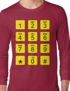 Phone Numbers Long Sleeve T-Shirt