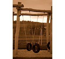 Playground in Autumn Photographic Print