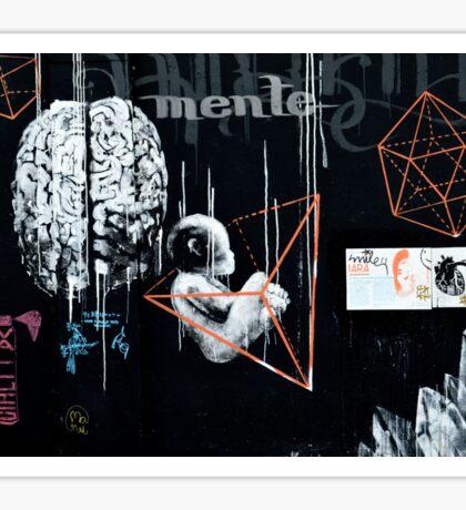 Le Foetus mental /// Street Art Sticker