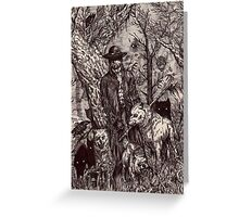In the dark forest Greeting Card