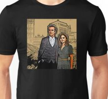 Doctor and Clara Mixed Sketch Unisex T-Shirt