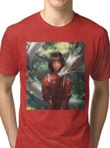 Dragon Haku and Chihiro  Tri-blend T-Shirt