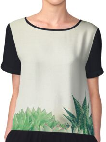 Succulent Forest Chiffon Top