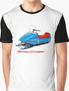 Snow Cruiser Vintage Snowmobiles Graphic T-Shirt